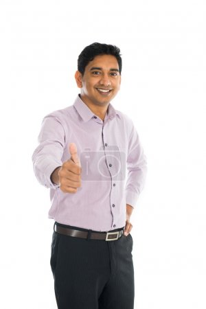 indian business man with thumbs up