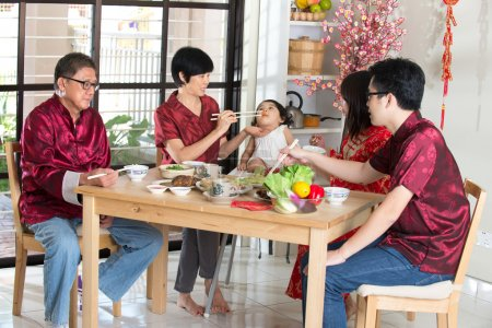 Chinese new year dinner - family