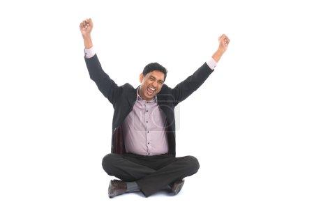 indian businessman celebrating success