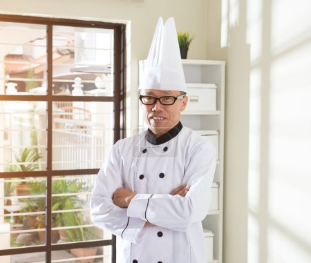 asian senior chef