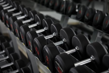 new dumbbells in the gym