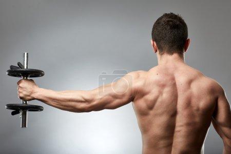 Man doing shoulder workout