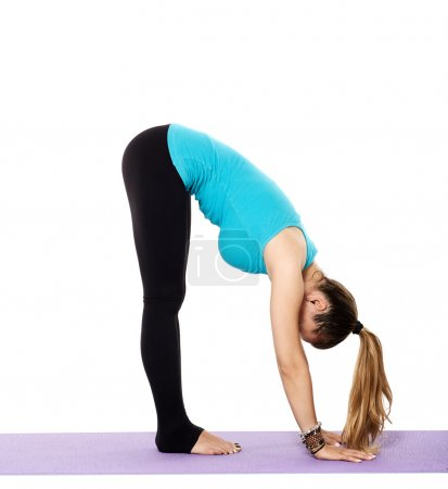 yoga teacher practicing yoga