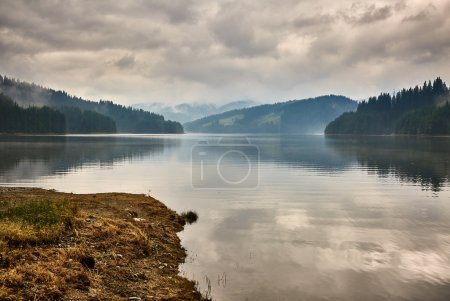 Photo for Landscape with lake Vidra in Southern Carpathians in Romania - Royalty Free Image