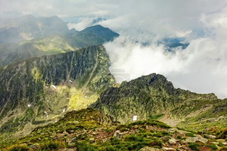 Fagaras mountains and clouds amongst them