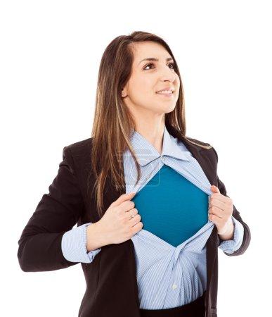 Businesswoman with superhero attitude