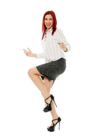 Successful beautiful businesswoman