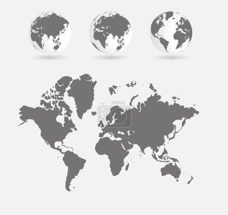 World map illustration background