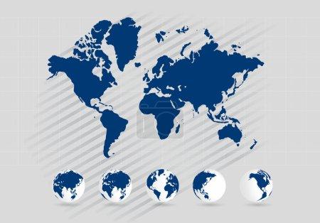 Photo pour Carte du monde illustration fond - image libre de droit
