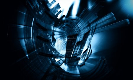 Photo for 3D futuristic abstract background - Royalty Free Image
