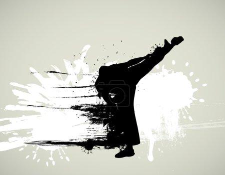 Martial art sport illustration