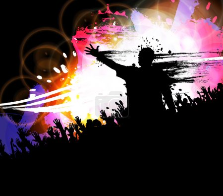 Photo pour Fond d'événement fête de la musique - image libre de droit