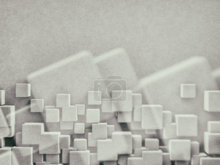 Photo for 3D rendering of abstract background with cubes - Royalty Free Image