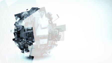 Foto de Render 3D, fondo futurista - Imagen libre de derechos