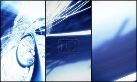 Photo pour Rendu 3D, arrière-plan futuriste pour bannière - image libre de droit