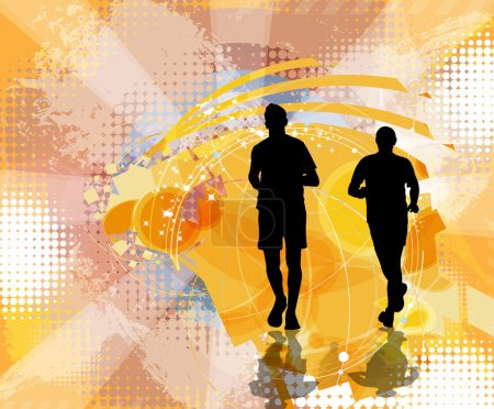 Photo for Marathon, sport vector illustration - Royalty Free Image