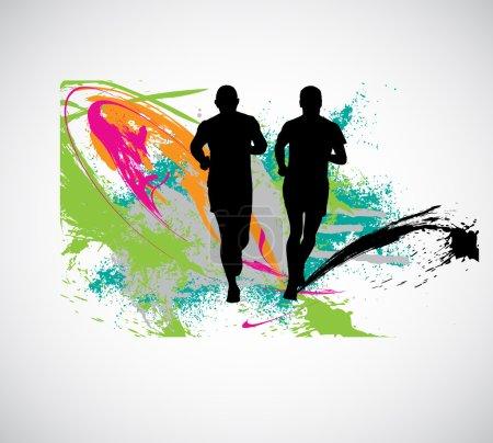 Photo pour Jogger, illustration vectorielle de sport - image libre de droit