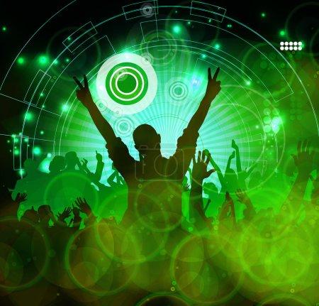 Photo pour Concert, soirée disco. Illustration musicale - image libre de droit