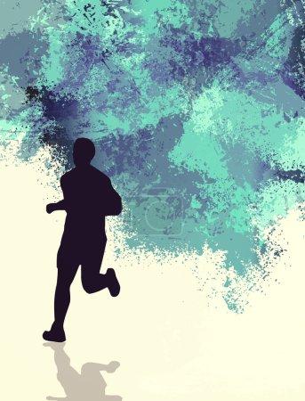 Photo pour Illustration du coureur de marathon, concept de compétition - image libre de droit