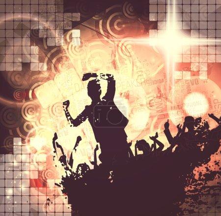 Photo pour Concert, soirée disco. illustration du festival - image libre de droit