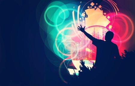 Photo for Music event illustration, celebration concept - Royalty Free Image