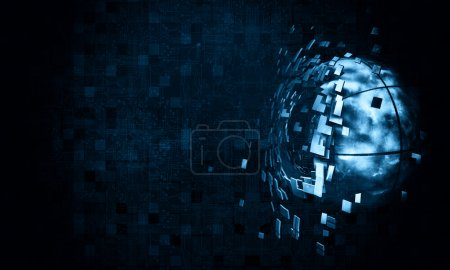 Photo pour Rendu 3D, arrière-plan futuriste - image libre de droit