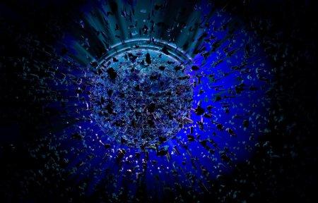 3D rendering, explosion background