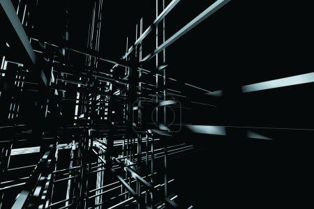 Photo pour Fond de haute technologie avec des formes géométriques - image libre de droit