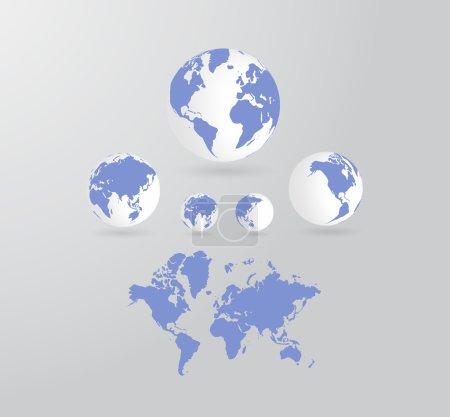 Photo pour Carte du monde fond - image libre de droit