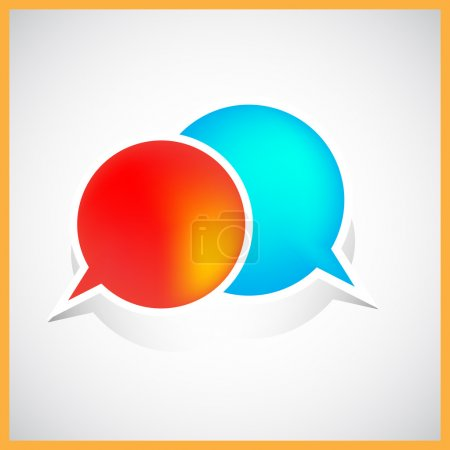 Bubble speech illustration