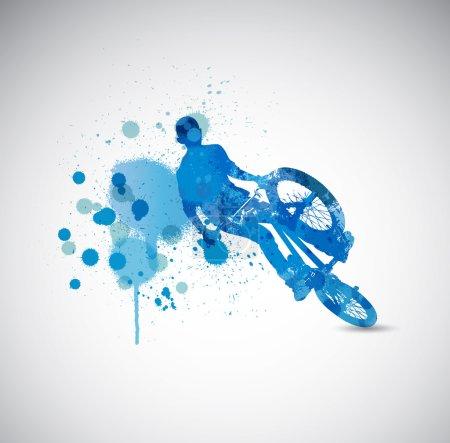 BMX rider illustration