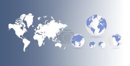 Photo pour Fond de carte mondial - image libre de droit