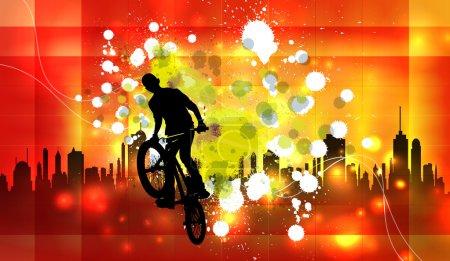 Extreme rider illustration