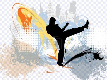 Photo for Karate illustration - Royalty Free Image