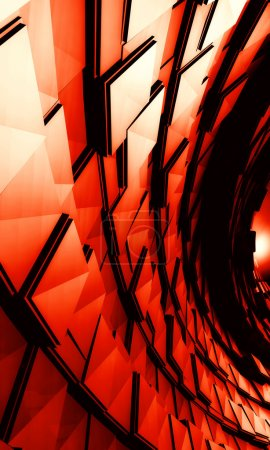 3D Red Abstract Background