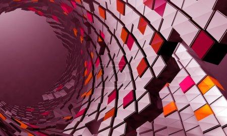 Photo pour Fond futuriste 3D - image libre de droit