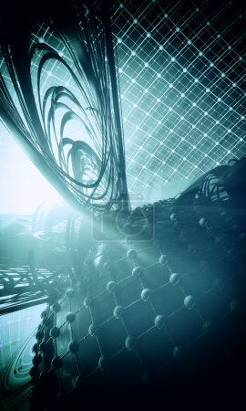 3D abstract space