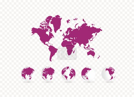 Photo pour Illustration carte du monde - image libre de droit