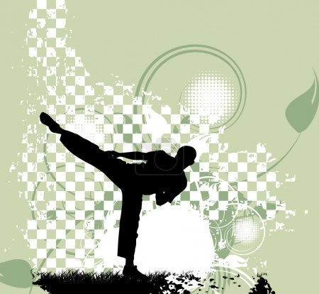 Karate Training illustration