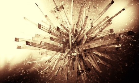 3d explosion abstract background