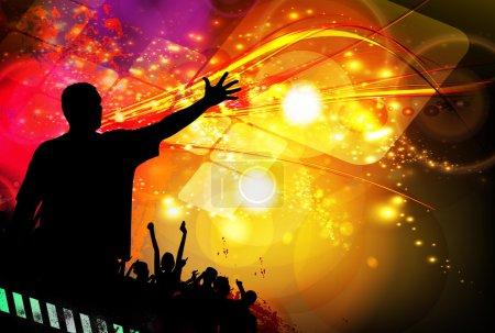 Music event party illustration