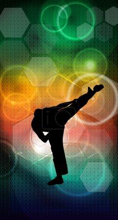 Martial arts karate illustration