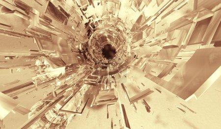 Photo pour Fond abstrait futuriste 3d - image libre de droit