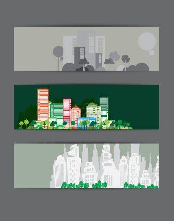 City backgrounds set