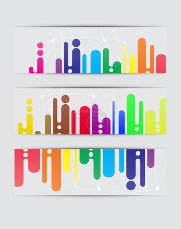 Foto de Fondos abstractos. Conjunto de banners - Imagen libre de derechos