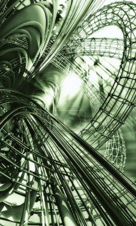Photo pour 3d Technologie verte Contexte - image libre de droit
