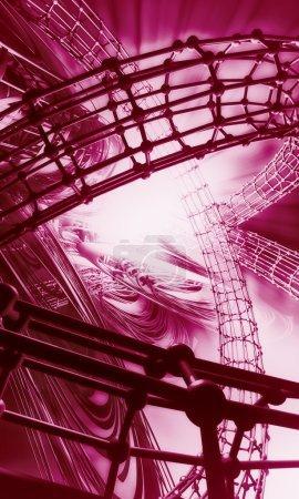 3D pink futuristic background