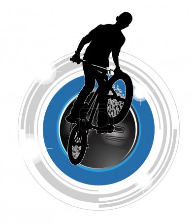 Bmx rider illustration