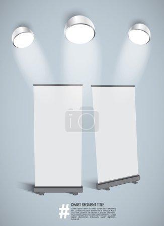 Illustration pour Illustration vectorielle des bannières roll up blanches - image libre de droit