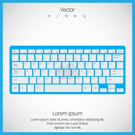 Computer keyboard illustration